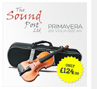 An award winning violin popular with students the Primevera 200 violin outfit includes a composite bow and a rugged case design.