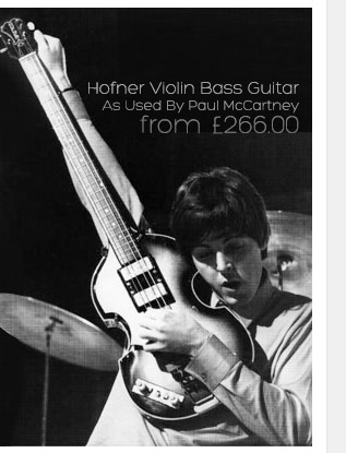 Hofners violin bass guitar is an iconic bass guitar that was instrumental to Paul McCartney's sound on many Beatles albums.