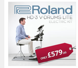 Roland HD-3 V-Drum kit is powerful and expressive enough for pros and fun and friendly for beginners alike.