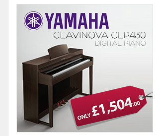 Yamaha Clavinova CLP430 digital piano reaches new levels of realism, expression and design with Yamaha piano technology.